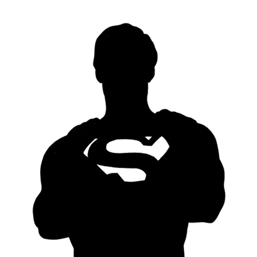 Silhouette Superman