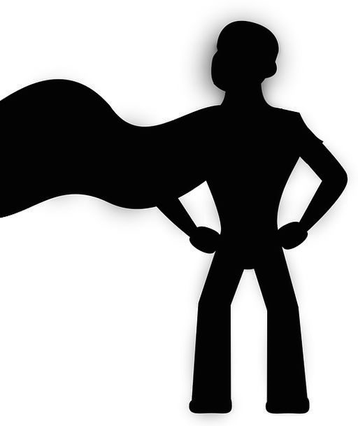512x609 Superhero, Champion, Super Hero, Superman, Hero, Cape, Black