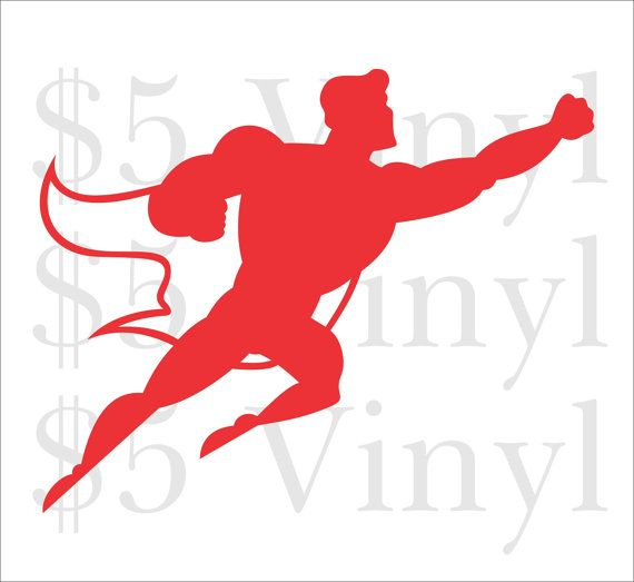 570x523 Superman Flying, Small Vinyl Car Decal, Justice League, Batman, Dc