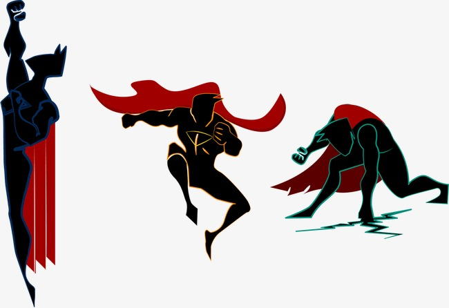 650x446 Superman Silhouette, Superman, Hero, Sketch Png And Vector