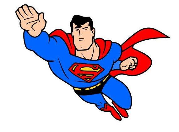 570x423 Superman Svg File, Svg Cutting File, Svg Silhouette, Svg