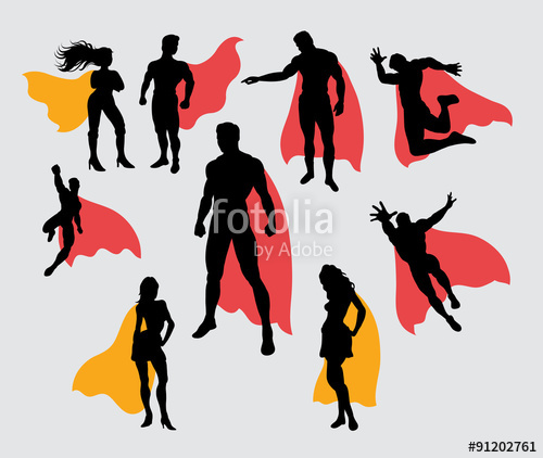 500x422 Superman And Supergirl Silhouettes Stock Image And Royalty Free
