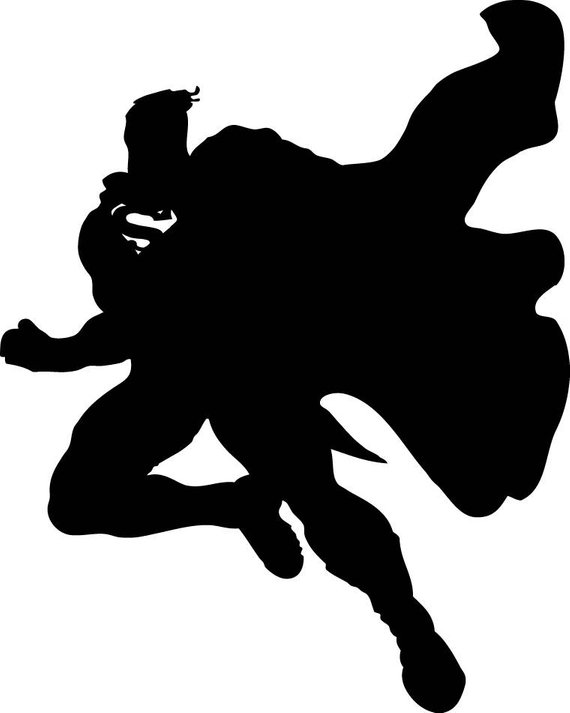570x713 Superman Svg Superman Silhouette Svg Superman Clipart