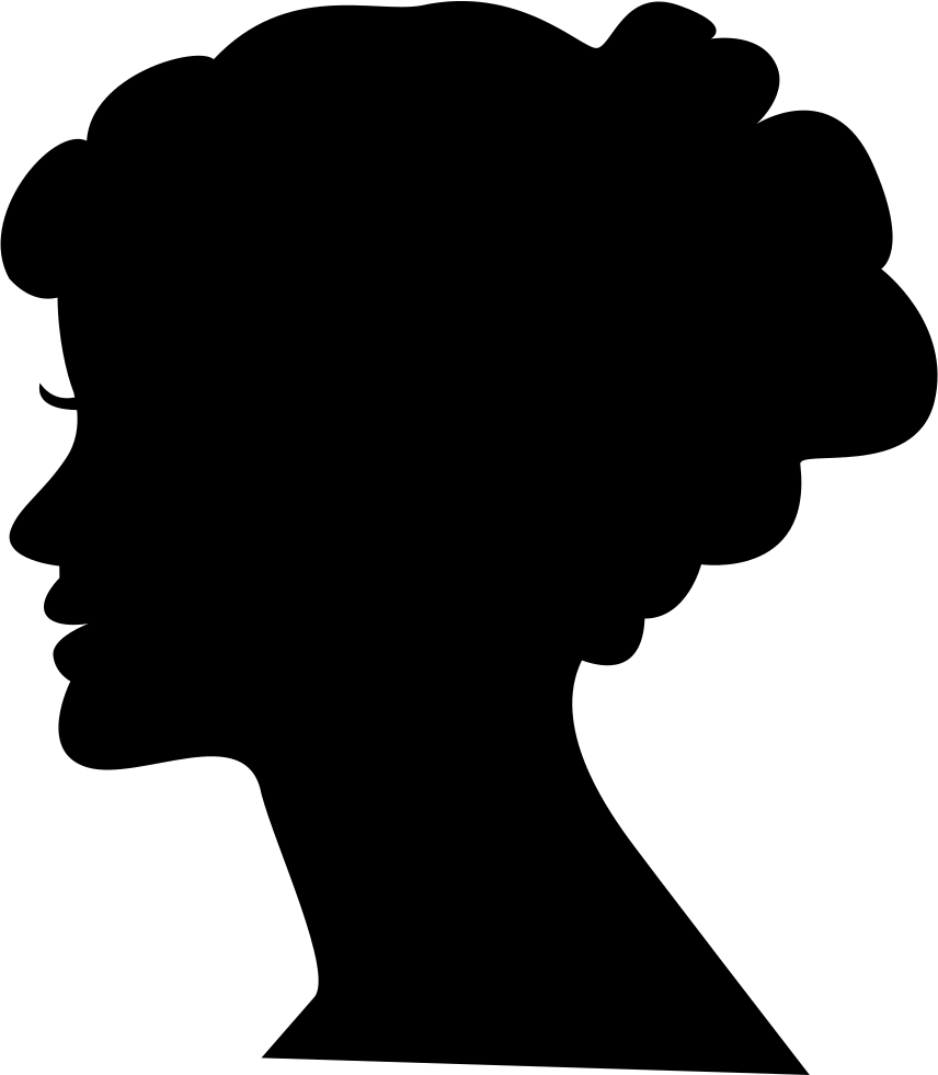 856x981 Female Head Silhouette Svg Png Icon Free Download ( 34671