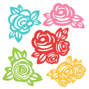 300x300 Flowers Svg Scrapbook Cut File Cute Clipart Files For Silhouette