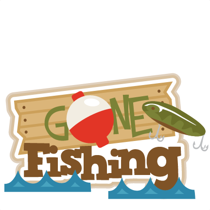 432x432 Gone Fishing Title Svg Scrapbook Title Fishing Svg Cut Files Free