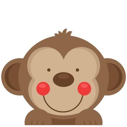 432x432 Peeking Monkey Svg Scrapbook Cut File Cute Clipart Files