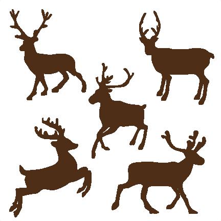 432x432 Reindeer Set Svg Cutting Files For Scrapbooking Cute Cut Files
