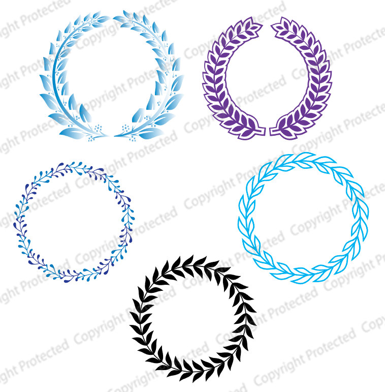 758x771 Svg Files Circular Monogram Files Used For Vinyl Cutting