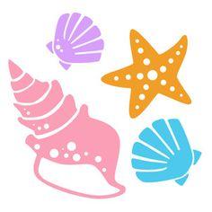 236x236 Sea Shells Free Svg Cut File Amp Clipart Beach Clipart, Cutting