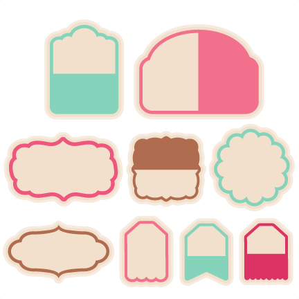 432x432 Tag Set Svg Scrapbook Cut File Cute Clipart Files For Silhouette