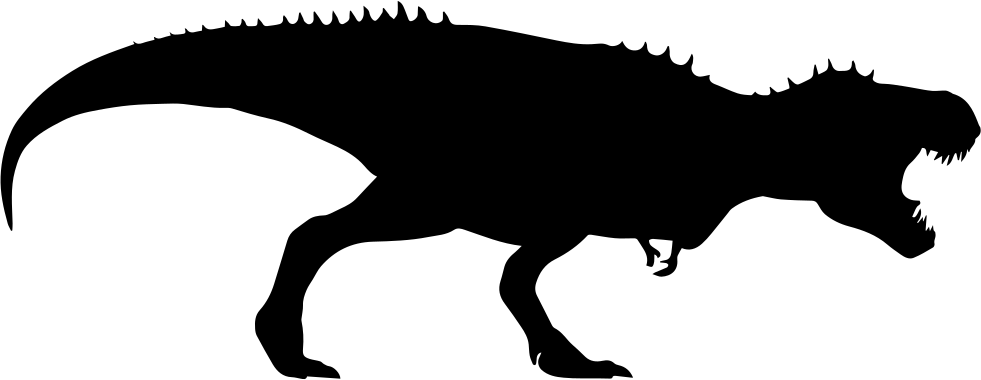 981x380 Tyrannosaurus Rex Dinosaur Silhouette Svg Png Icon Free Download