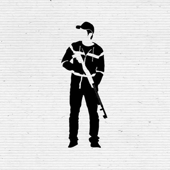 570x570 Glenn Rhee The Walking Dead Silhouette Svg Cutting File, Printable