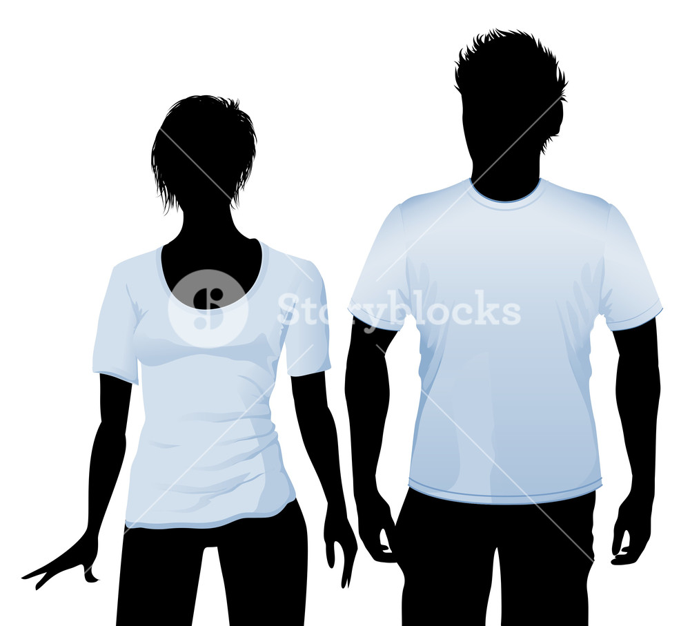 1000x907 T Shirt And Polo Shirt Design Template With Black Body Silhouette