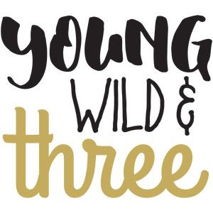 300x300 Baby T Shirt Young Wild And Three Silhouette Design