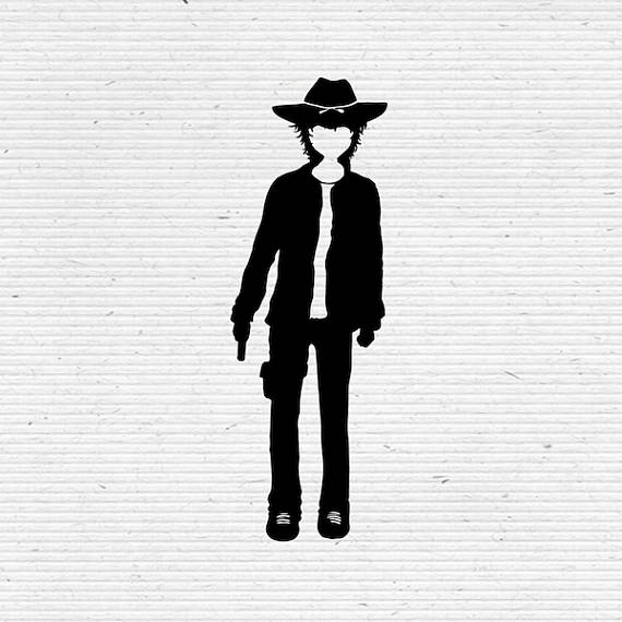 570x570 Carl Grimes The Walking Dead Silhouette Svg Cutting File