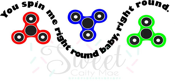 570x267 Hand Spinner Cut File Cameo Projects Cricut Projects