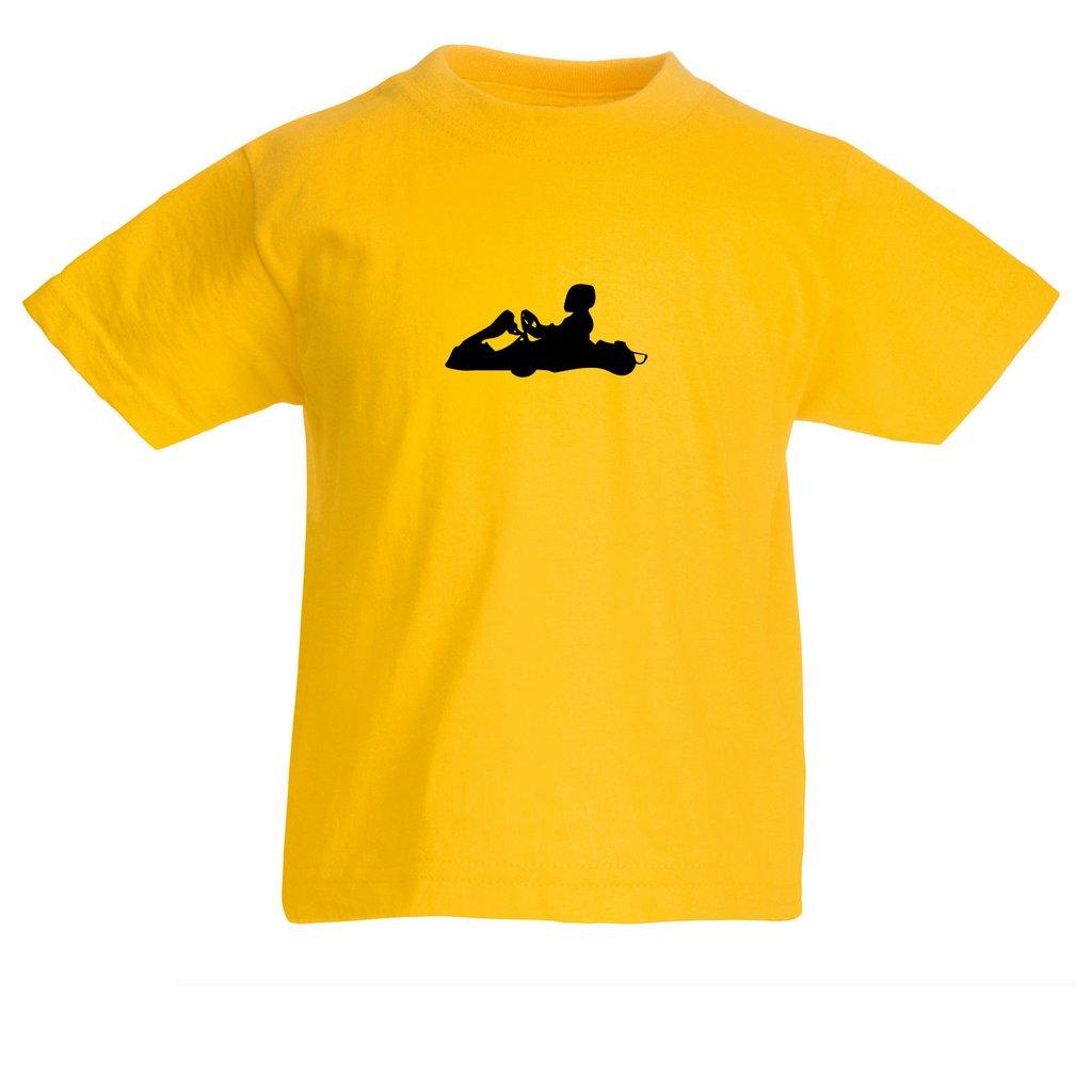 1024x1024 Boys Karting T Shirt With Go Kart Silhouette Design Tiger Prints