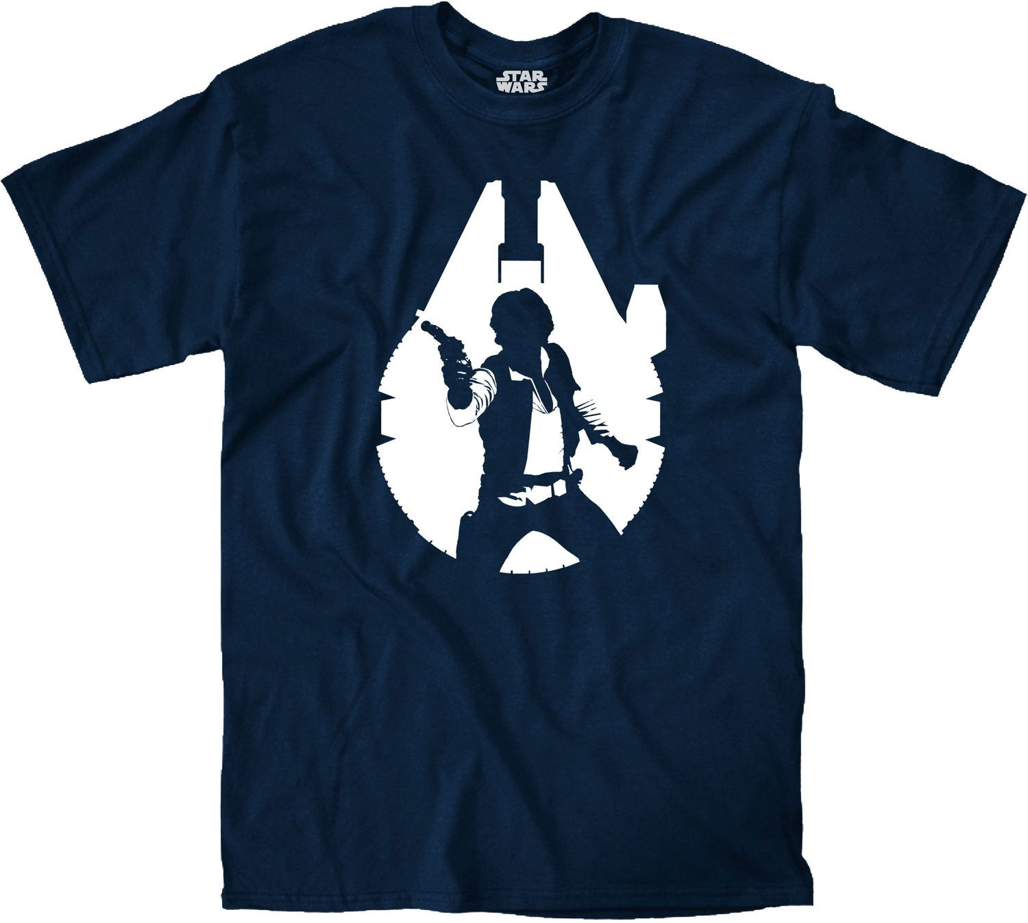 1500x1347 Han Falcon Silhouette T Shirt Falcons, Silhouettes And Star