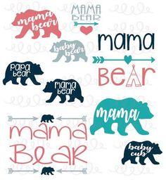 236x259 Mama Bear Svg Mother Bear Svg Bear Family T Shirt Cutting Design