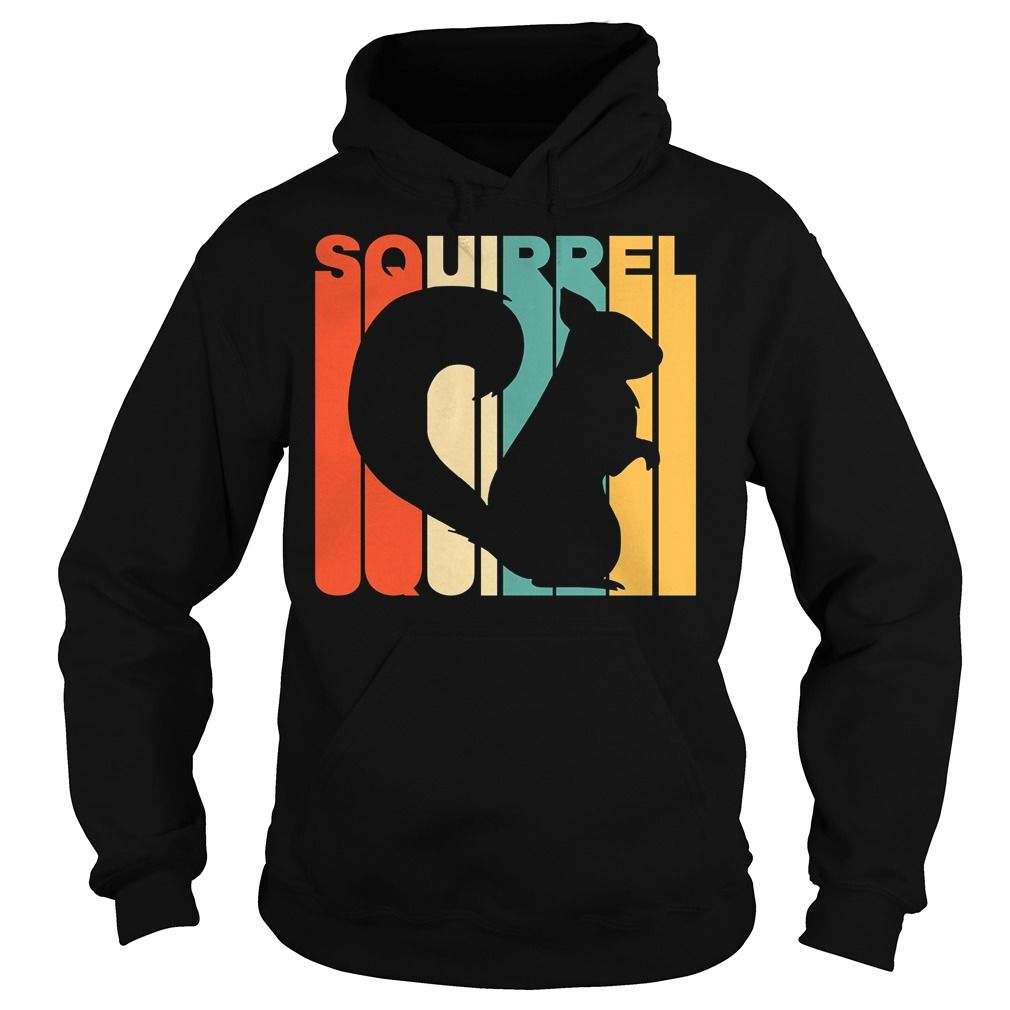 1010x1010 Vintage Style Squirrel Silhouette T Shirt