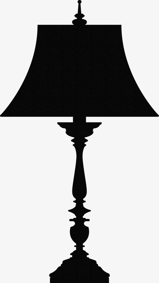 650x1155 Black Silhouette Table Lamp, Black, Table Lamp, Sketch Png Image