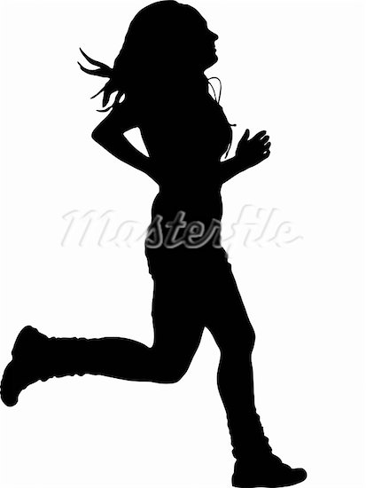 413x550 Lady Running Clipart