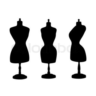 320x320 Mannequin Silhouette With Wings. Vector Illustration Isolated