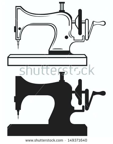 370x470 Sewing Machine Silhouette Machines Vector Clip Art Illustrations
