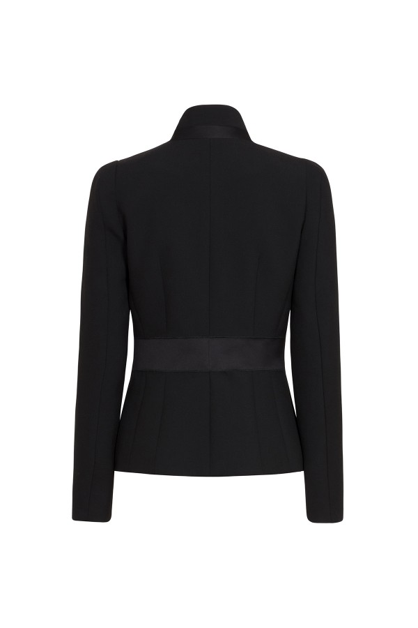 600x900 Black Sculpted Tailoring Jacket Coats Amp Jackets Amanda Wakeley