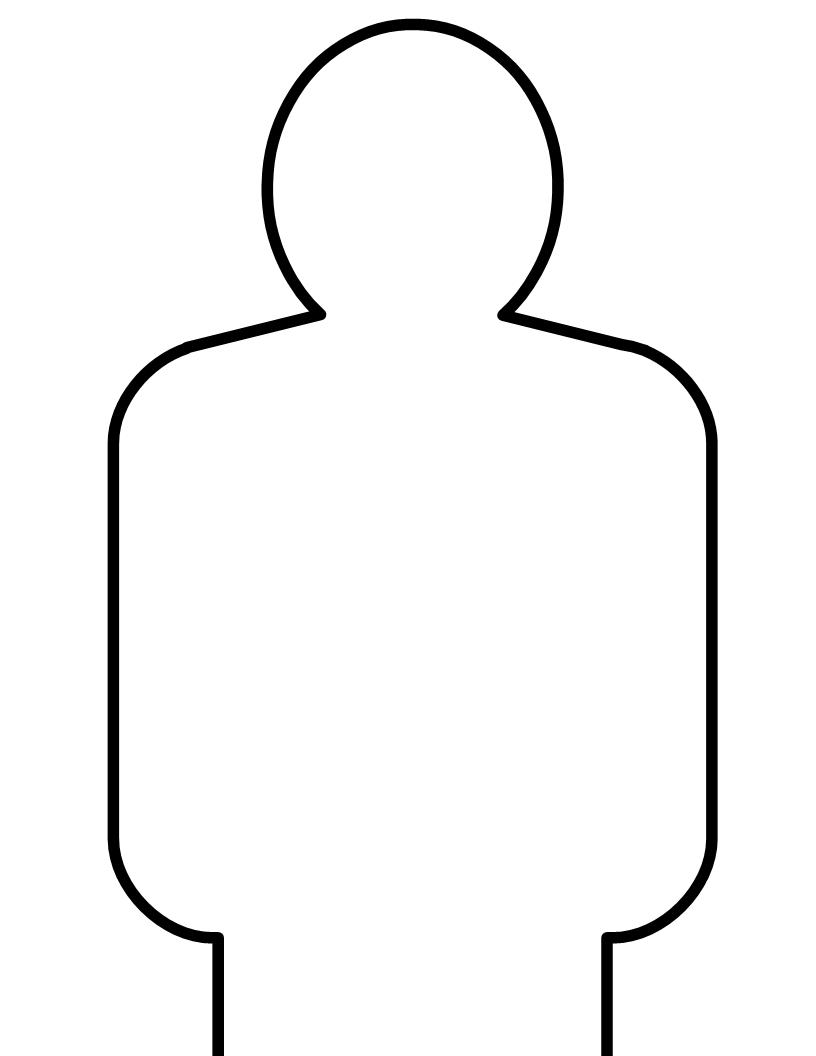This is a graphic of Printable Silhouette Target inside novelty