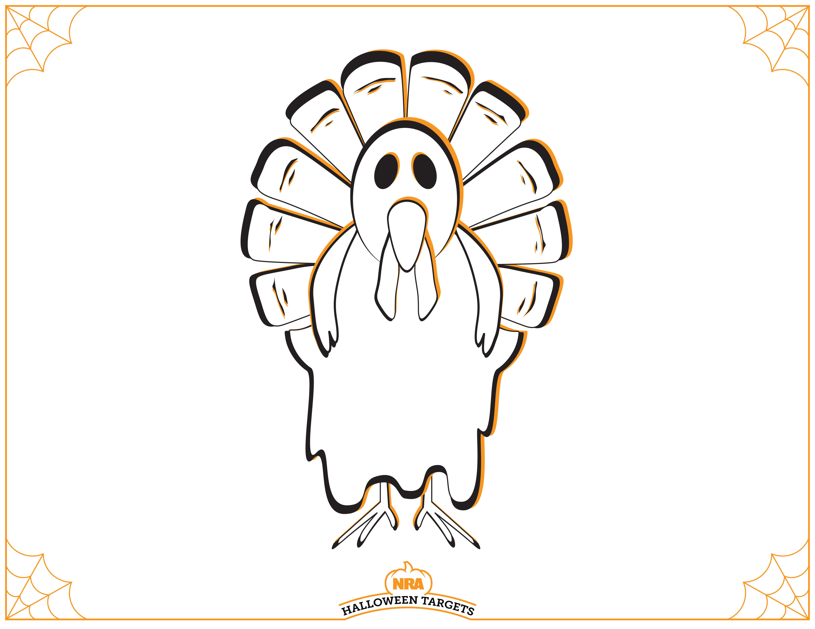 image relating to Printable Turkey Targets titled Silhouette Emphasis Printable at  Free of charge for
