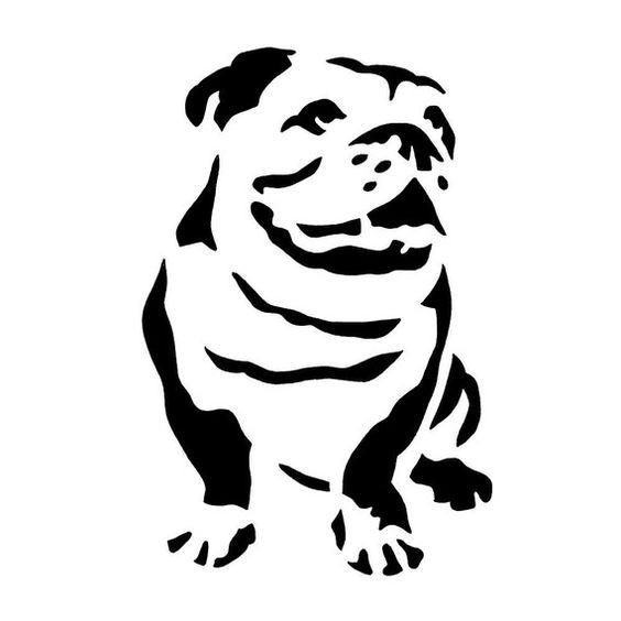 564x564 Simple Black Ink Bulldog Silhouette Tattoo Design