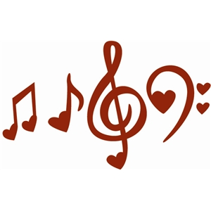 300x300 Classy Inspiration Heart Music Note Silhouette Design Store View
