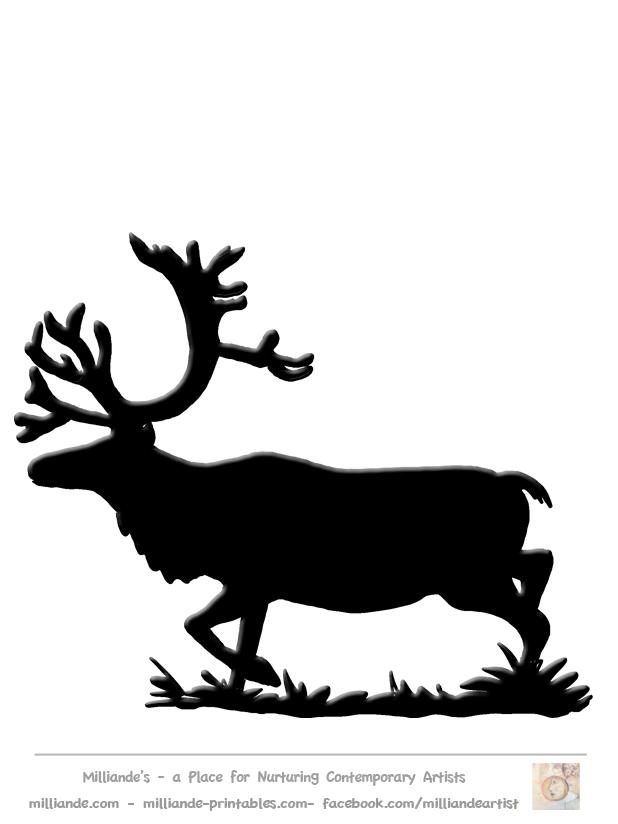 618x824 Lots Of Templates Free Reindeer Clipart , Reindeer Silhouette
