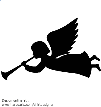 335x355 Male Angel Silhouette Clipart
