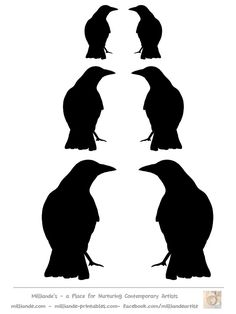 236x314 Crow Silhouette Template Collection, Free Printable Bird Silhoutte