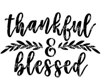 340x270 Thankful Grateful Blessed Svg Fall Svg Autumn Svg