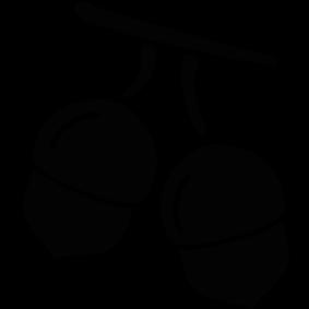 283x283 Thanksgiving Acorns Silhouette Silhouette Of Thanksgiving Acorns