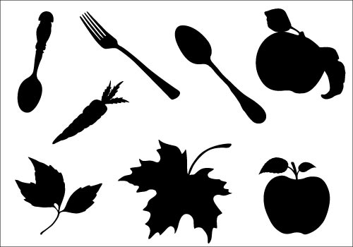 500x350 Thanksgiving Food Silhouette Vectorsilhouette Clip Art