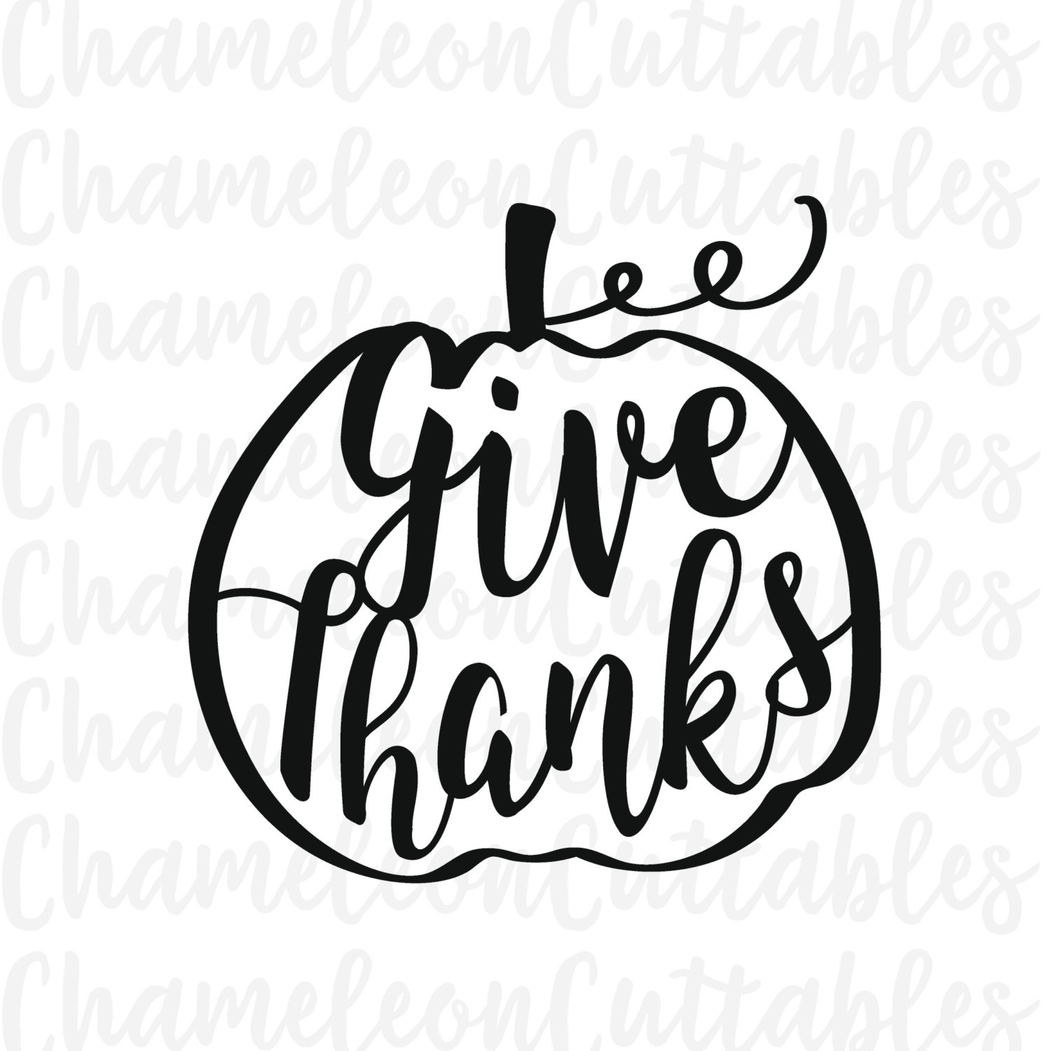 1500x1500 Give Thanks Pumpkin Svg Thanksgiving By Chameleoncuttables On Etsy