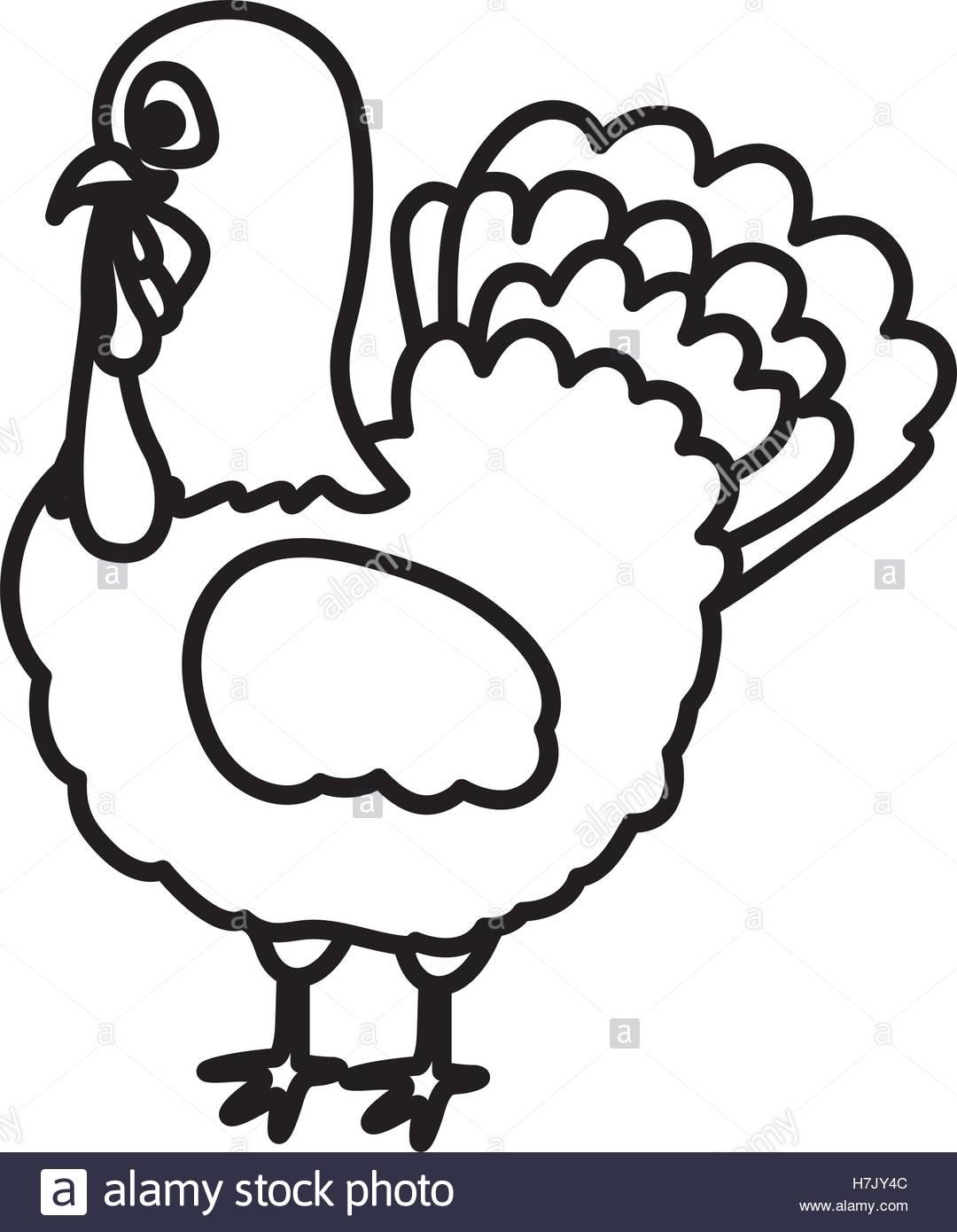 1080x1390 Turkey Icon. Thanksgiving And Autumn Season Theme. Silhouette
