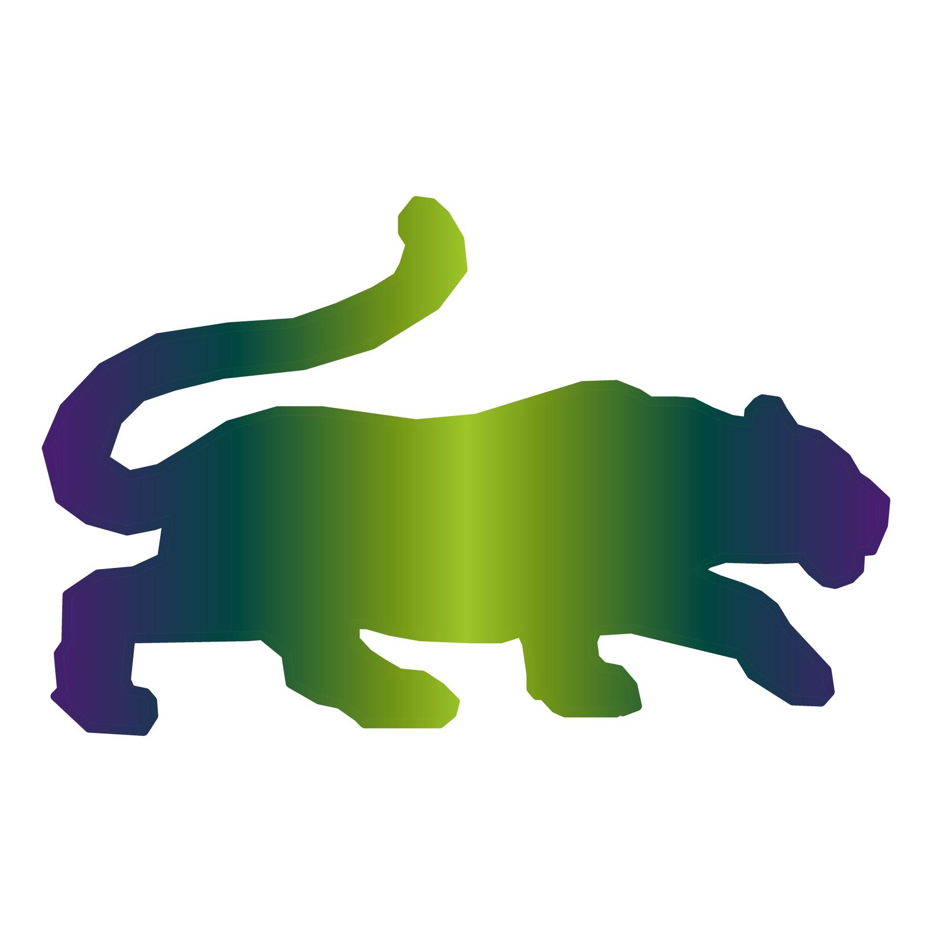 1920x1920 Tiger Green Silhouette Free Stock Photo