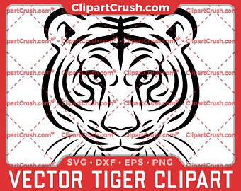 340x270 Tiger Svg Head Of A Tiger Svg Dxf Eps Png Print And Cut