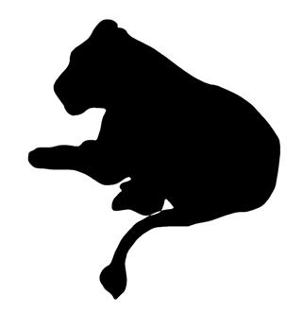 302x330 Tiger Silhouette 4 Decal Sticker