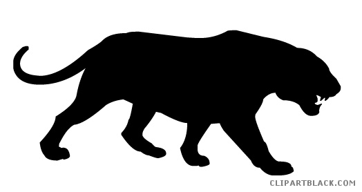 524x278 Tiger Silhouette Animal Free Black White Clipart Images