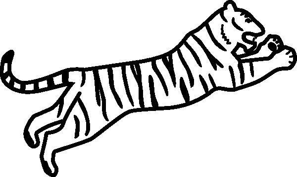 600x359 Tiger Silhouette Clipart