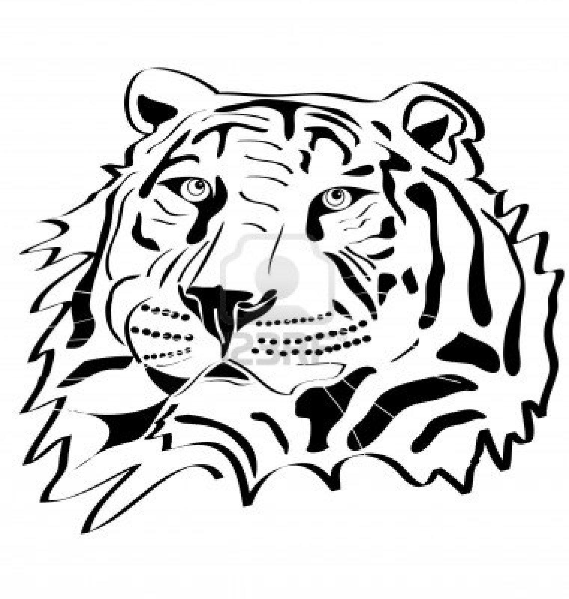 1140x1200 Tigres Clipart Silhouette