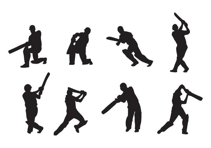 700x490 Cricket Player Vectors