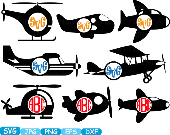 570x453 Circle Plane Toys Airplane Monogram Cutting Files Svg Clipart